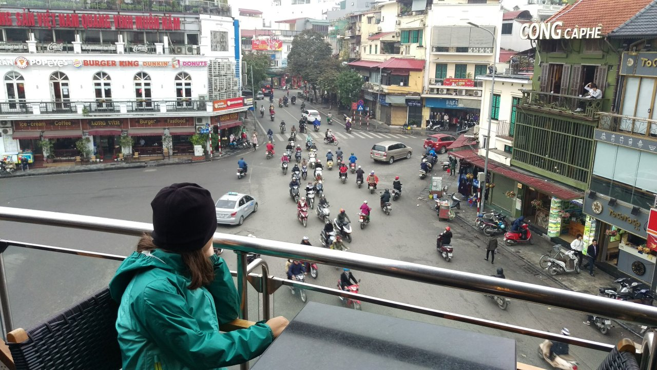 Holding on in Hanoi, by Annabelle